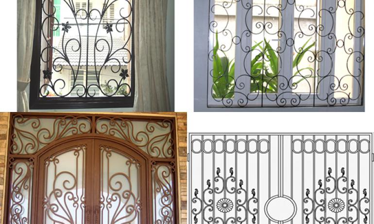 Đồng Tiến - Nơi hội tụ những mẫu hoa sắt cửa sổ đẹp, độc đáo không đâu có