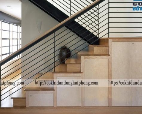 Cầu thang sắt đẹp, sang trọng CTS 02