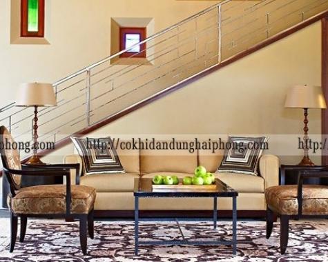 Cầu thang inox phong cách CTS04
