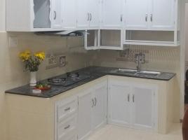Mẫu tủ bếp nhôm kính đẹp 01