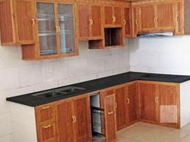 Mẫu tủ bếp nhôm kính đẹp 03